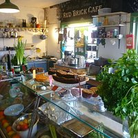 Inside the brilliant Red Brick Cafe