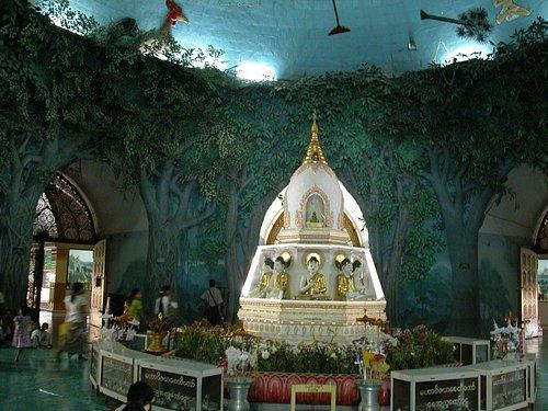Inside Maha Wizaya Pagoda