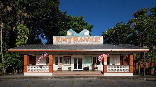 Front entrance of the Everglades Wonder Gardens circa 1936