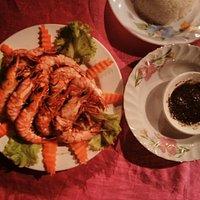 Shrimps and black pepper