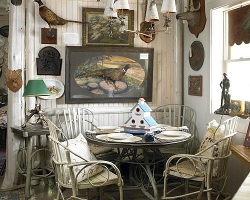 Table and chairs from Timpson Creek Gallery along with wall decor