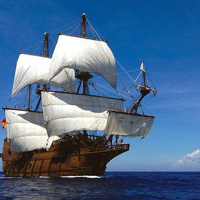 Galleon under sail