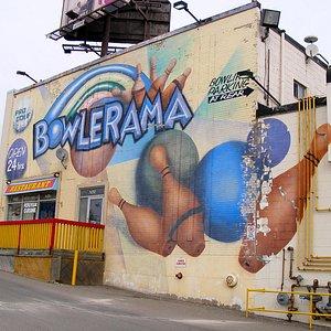 Flashy Bowlerama Mural
