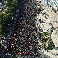 El Obelisco el día de la Huelga General