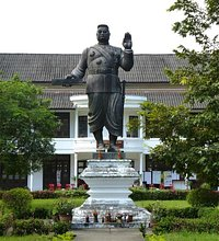 King Sisavang Vong in front of the theatre