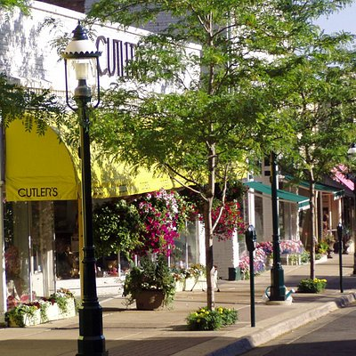 Shopping in downtown Petoskey's Gaslight District