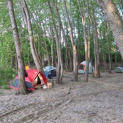 Kayak Morris camping campground illinois