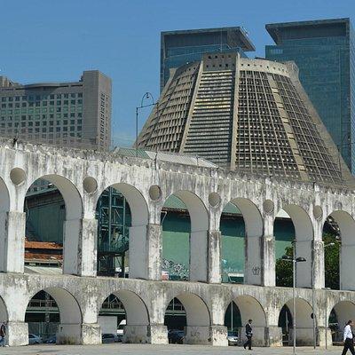 arcos da lapa de fondo la catedral