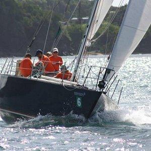 First 4 Sail competing in the Mango Bowl Regatta