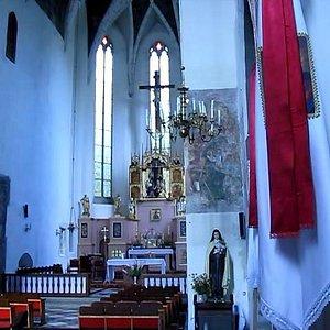 Костел Святого Варфоломея - вид изнутри