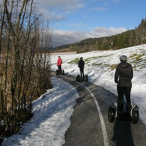 Segway in the snow