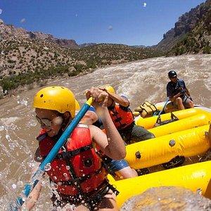 Whitewater rafting through Split Mountain