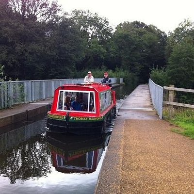 All aboard the Thomas Dadford on the Neath canal