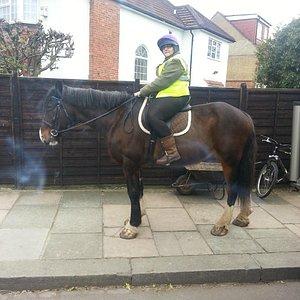me riding simon at park lane stables