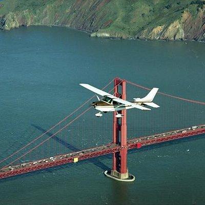 Fly over Golden Gate.