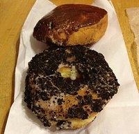 Oreo and custard filled donuts