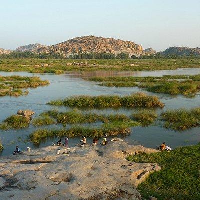 Tungabhadra River from Anegundi