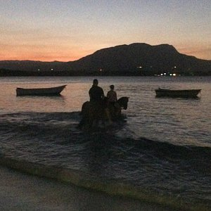 Sunset and Swimming with our horses