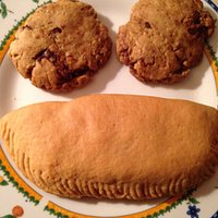 Coconut tart and chocolate chip cookies