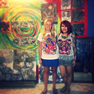 Amazing hand painted t-shirt done by Mr Pan's extremely talented wife Bow :)