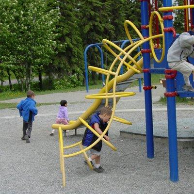 My 3 little boys exploring it.