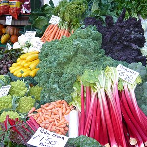 A cornucopia of seasonal market veg