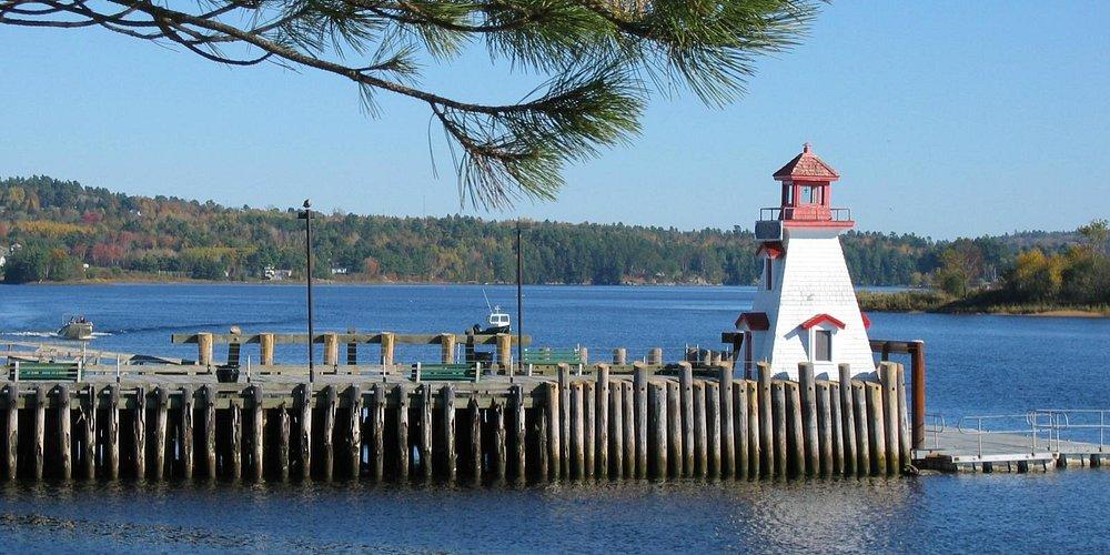 Lighthouse Town Wharf, St. Stephen, N.B. Canada