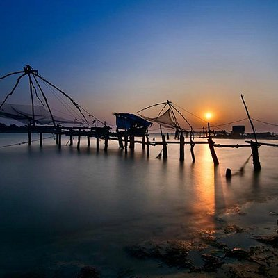 Chinese Fishing Nets at Fort Cochin.