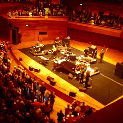 Stage before Bacharach's concert