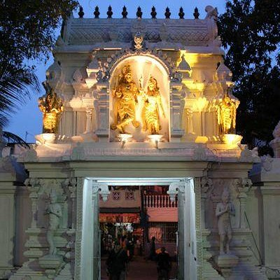 Sri Ponnambalam Vanesar Kovil Behind the gate