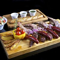 Meat Platter- Jessica's Signature Dish served on Butcher's Block with salad & bread (2 diners mi