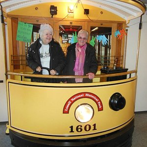 A photo op in the Trolley exhibit