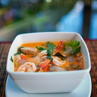 Tom yam goog - the most famous soup in the thai kitchen