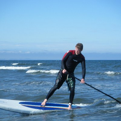 SUP surfing at St Andrews