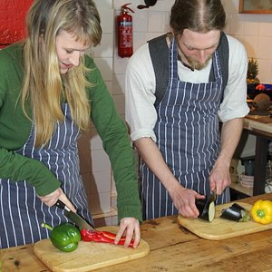 Some students at The Cookery School