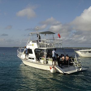 dive boat headed out