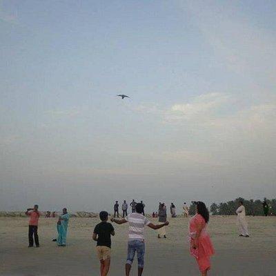 Kite flying at Azheeka was a fun.