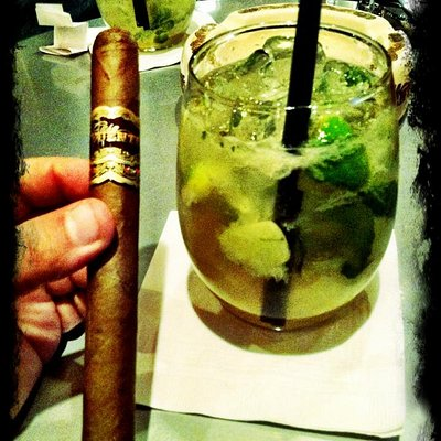 Cigar at cocktail.... heaven