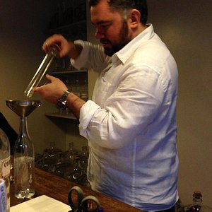 Gin being blended