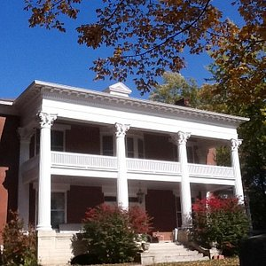Exterior.  Owned by Mary Ann and Bert Kellerman. Restored in 2013.