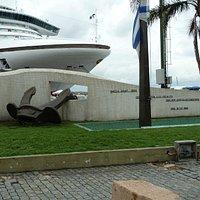 Der Anker des untergegangenen Schlachtschiffes Graf Spee