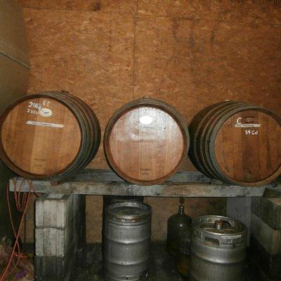 Barrels in the barn