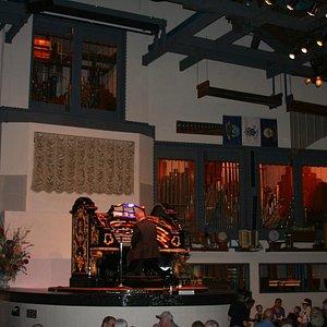 Lew Williams at the organ