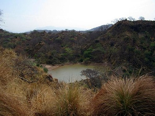 A water reservoir made from rain water in Nepli Forest