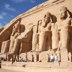 Abu Simel templet  Abu Simbel består af 2 stentempler i det sydlige Ægypten på den vestlige