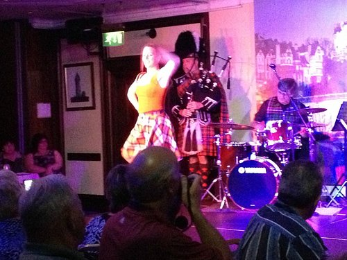 Bagpipes and Scottish dancer