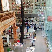 La casa original, el arbol dentro, la ampliacion y todo rodeado por libros y plantas, hermoso!