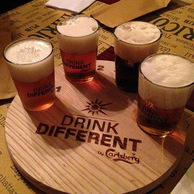 Selezione di quattro birre