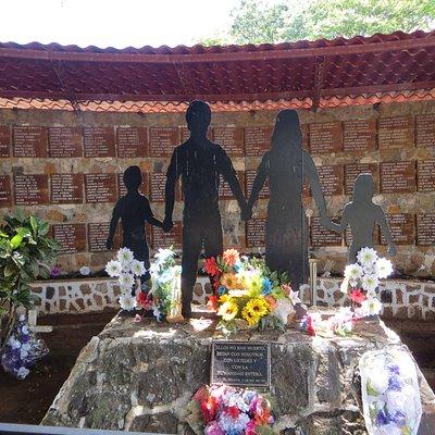 monument to civilians murdered at El Mozote