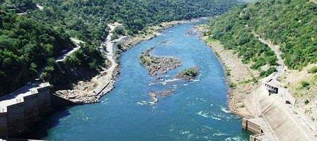 Zambezi River below the dam wall